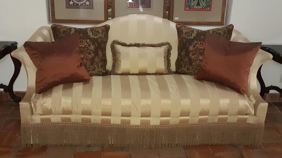 Striped Satin Sofa