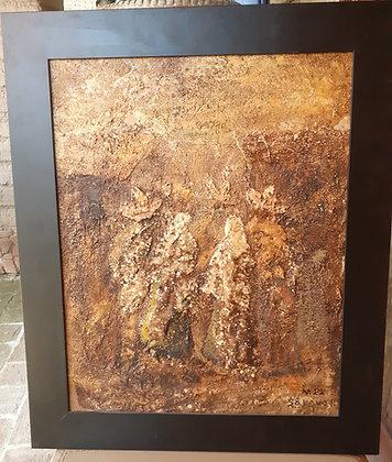 Sergio Bravo Hidalgo, Impasto Painting, signed