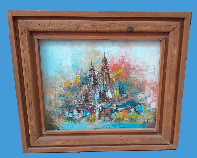 Oil Canvas, Cathedral in San Miguel de Allende