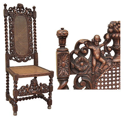 Pair-of-Jacobean-Renaissance-Revival-Chairs