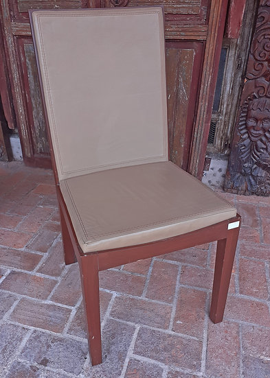 10 mid century style chairs, leather seats