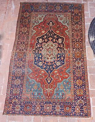 "Antique Mohtasham Kashan Carpet, 4' x 6' 8"""