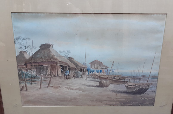 Early 20th C. Japanese Water Color, Unsigned