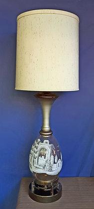 Vintage Stiffel Lamp Hand Painted
