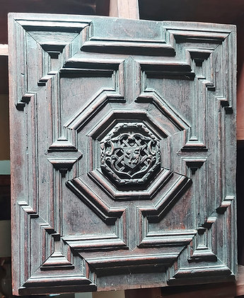 """Antique Door Panel, Hand Carved Wood, Assembled Panel, 18"""" x 16"""""""