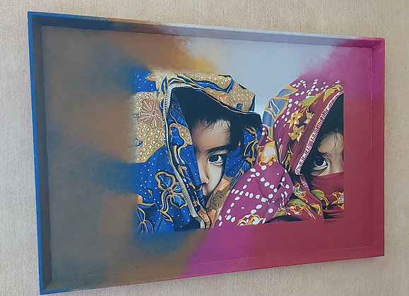 Cathy Chalvignac Original, Children of Burma, Dated '04