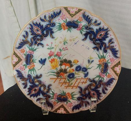 Imari-pattern-English-porcelain-cabinet-plate