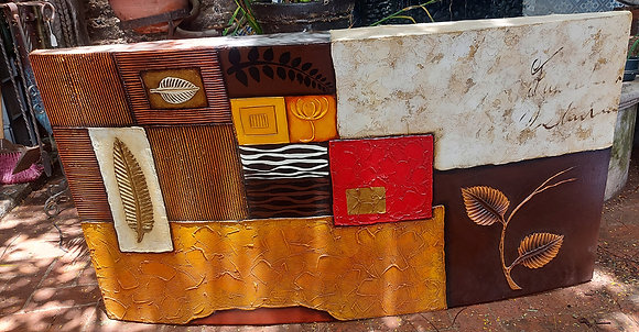 """Impasto Construction of Squares and Rectangles;  60"""" x 30"""" . Ex. Condition."""