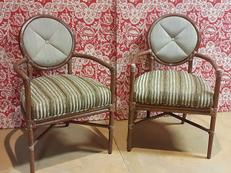Set of 4 McGuire Arm Chairs