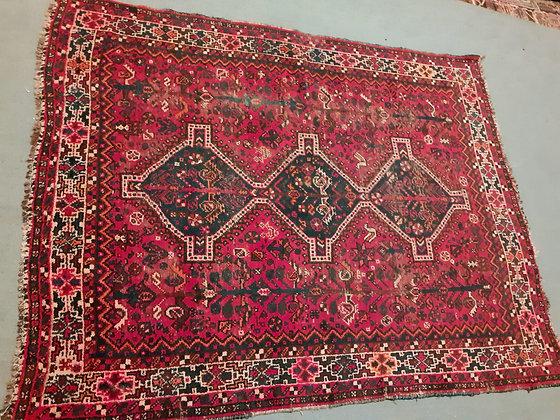 "Shiraz Tribal Rug, 64"" by 80"""
