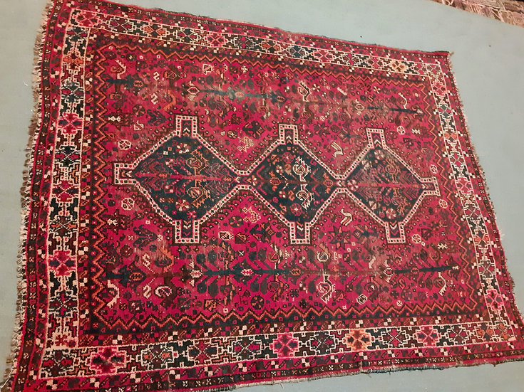 "Shiraz Tribal Rug, 64"" by 80"""