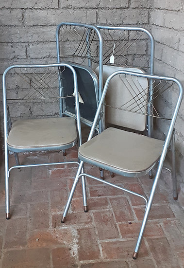 Set of 4 Vintage Aluminum Folding Chairs