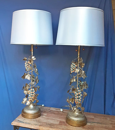 """Pair Highly Decorative Table Lamps,  38"""" tall"""