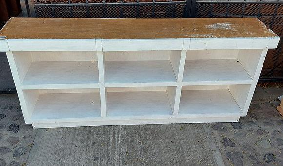 "Painted Custom Made Shelf/Desk - 34"" tall, 77"" long"