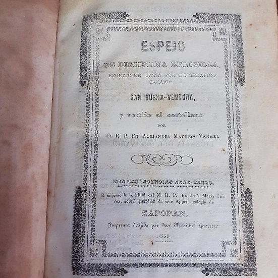 Espejo de Disciplina Religiosa 1853