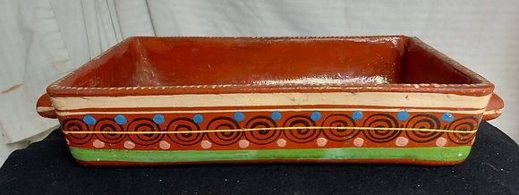 Vintage-clay-pot-tlaquepaque-decorated-utility-ware
