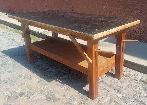 """Strong Work Table: 81"""" wide, 39"""" deep and 37"""" tall, Well Constructed"""