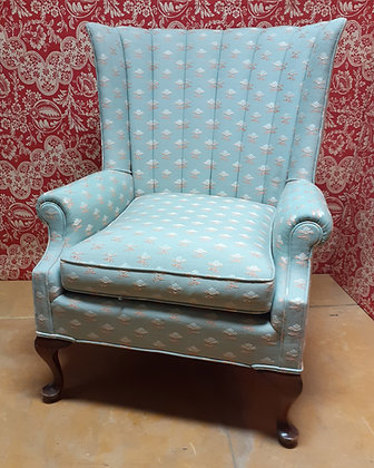 Shell Back Upholstered Arm Chair, Ex. Condition