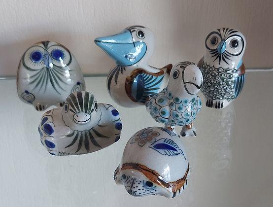 Tonala Pottery Figures, 5 are Signed Ken Edwards. Buy Choice!