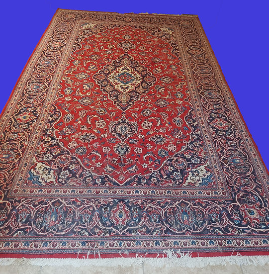 """Hand Knotted Persian Rug, """"Meshed"""",   6' 7"""" by 10' 6"""""""