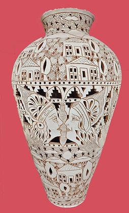 """Oaxacan -Vase-31""""-Attributed-to-Eligio-Zarate-barro-calado"""