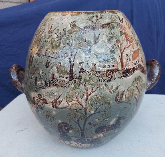 Vintage-Tlaquepaque-petatillo-urn