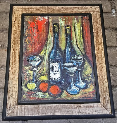 Mid Century Oil Painting, Still Life, signed work