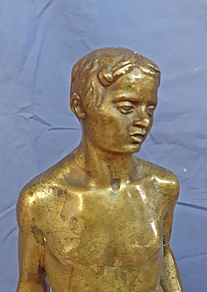 Bronze Sculpture by Mark Vedres, as is
