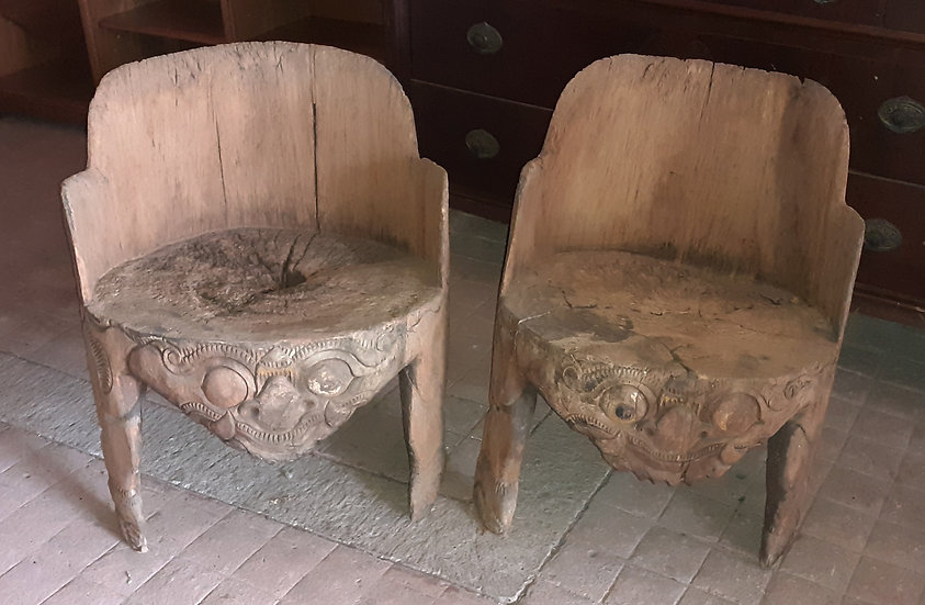exotic Bali wooden chairs f