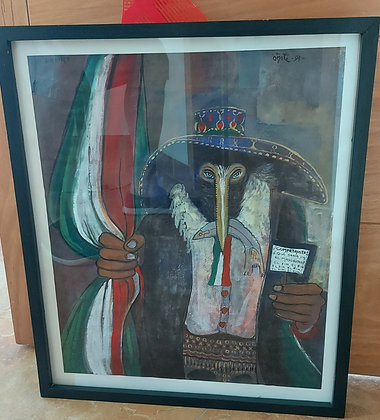 Politically Themed Print, signed Oñate