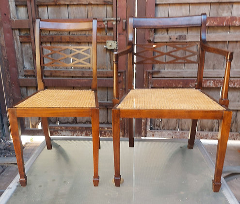 Classic Design Dining Chairs, New Cane Seats,  Available Separately