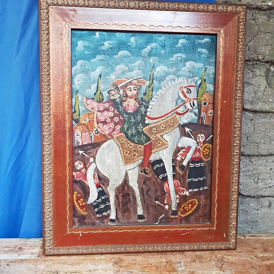 Peruvian Painting of Santiago de Matamoros