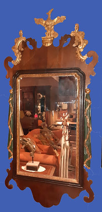 """Antique Mirror in Regency Style, Gilt Carved Wood, 23"""" by 52"""""""