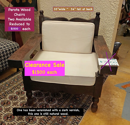 Colonial Style Mexican Parlor Chairs, Two Available, Price for Each One