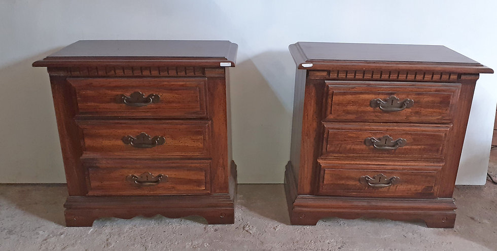 Pair of End Tables, Night Stands, 1980's, US Made, End Tables