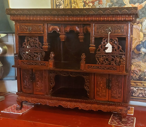 Red-Lacquer-Chinese-Altar-antique-hand-carved