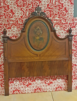 Antique Twin Hand Painted Headboard