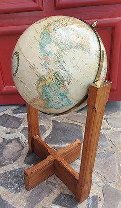 "Vintage Floor Standing Replogle Globe, 36"" tall"