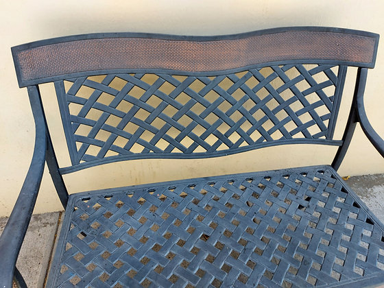 """Cast Aluminum Settee or Bench, 47"""" wide"""