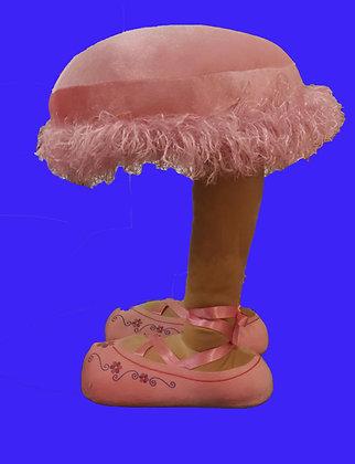 Pink House Slipper Stool, Whimsical Design, Like New
