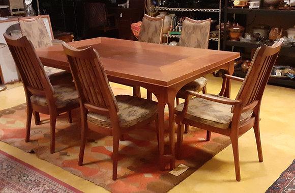 Mid Cnetury Dining Room Set Brown Saltman