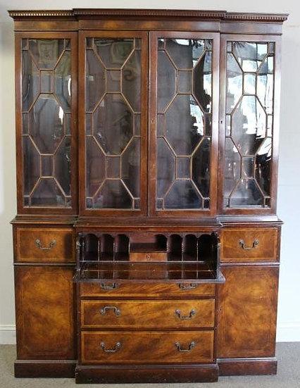 Hepplewhite Style Secretary / Bookcase, Baker 1920's