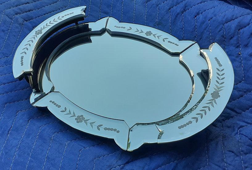 Vintage Vanity Mirrored Tray