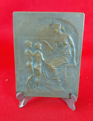 BELGIAN ORPHAN FUND MEDAL 1914-1918 SIGNED THEUNIS