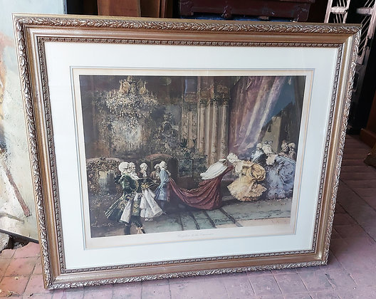 "Antique Print ""Reception of his Eminence"" 1904,  S. Barbudo"