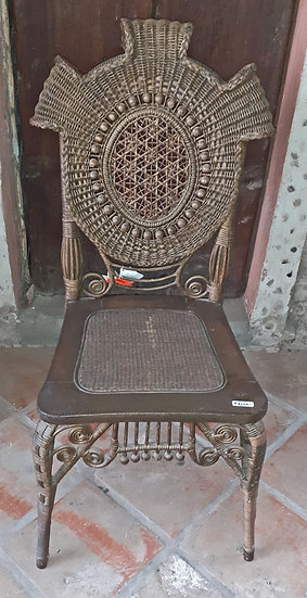 Stick & Ball Wicker Side Chair