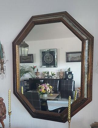 Octoganal Mirror, Retro, USA Made, 1960's