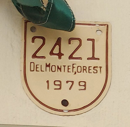 Del Monte Forest, Pebble Beach, Motorcycle License Plates, 1979 & 1985