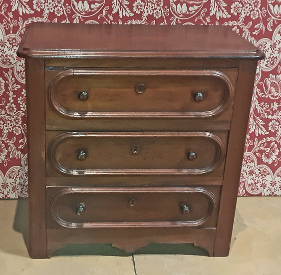Antique Walnut Drawer Commode