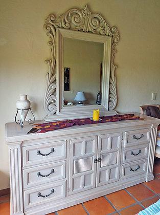 """Drexel Heritage Dresser w/ Mirror,  76"""" long"""